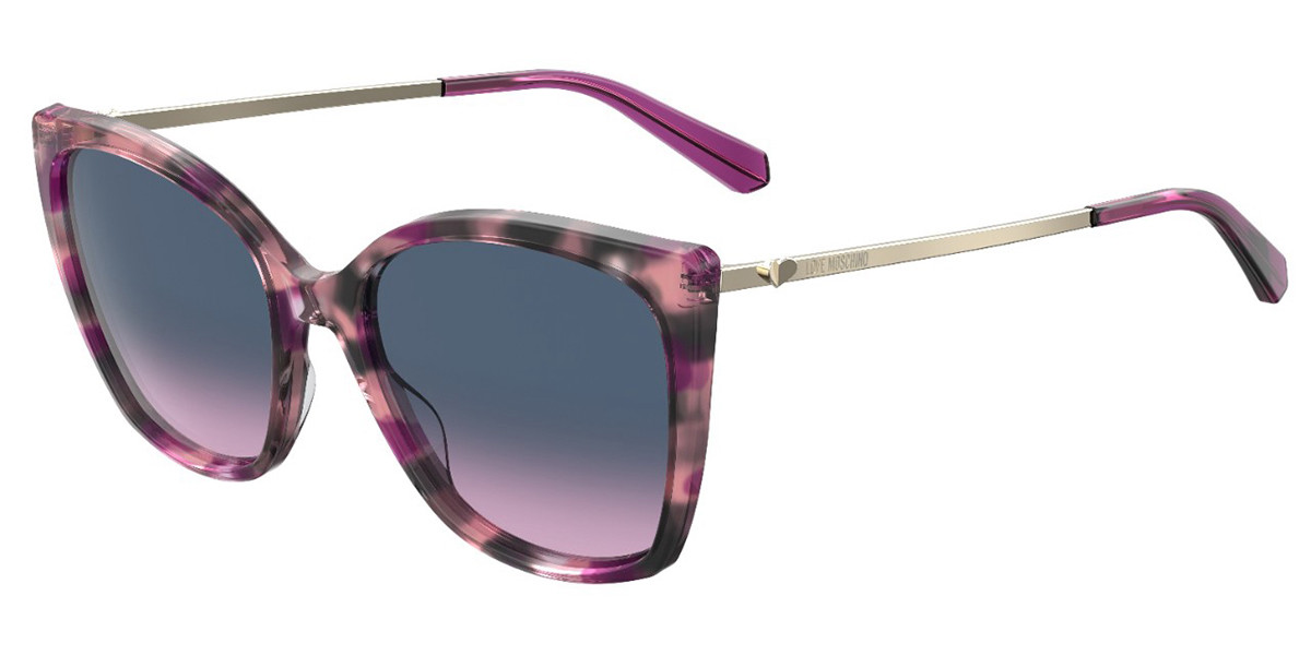 Moschino Love MOL018/S AY0/I4 Women's Sunglasses Violet Size 55
