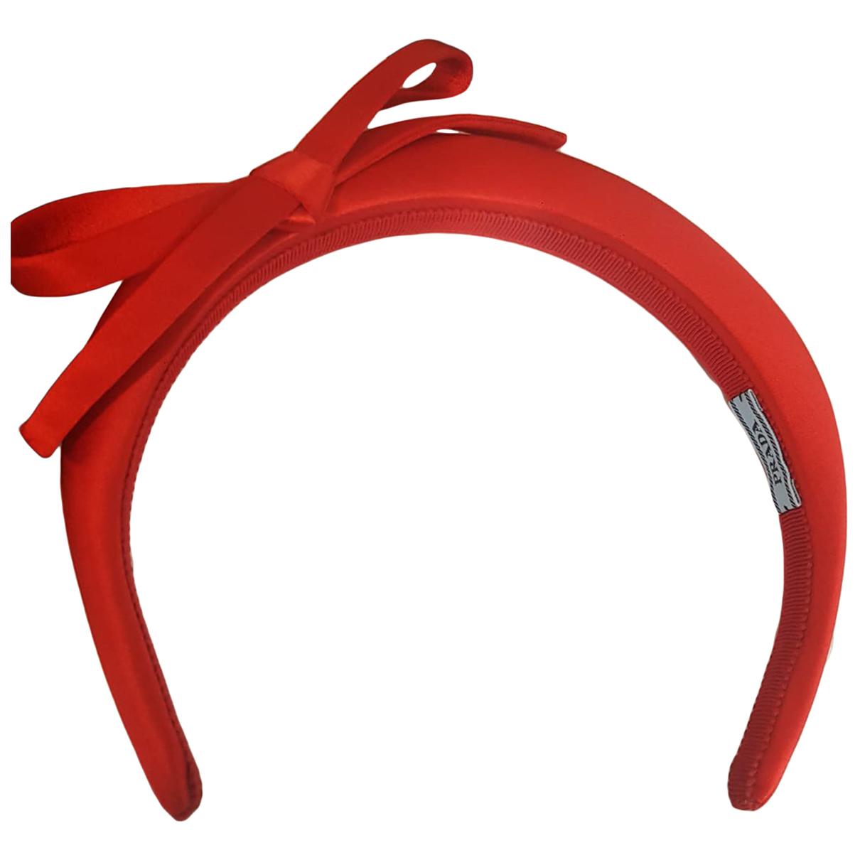 Prada - Bijoux de tete   pour femme en soie - rouge