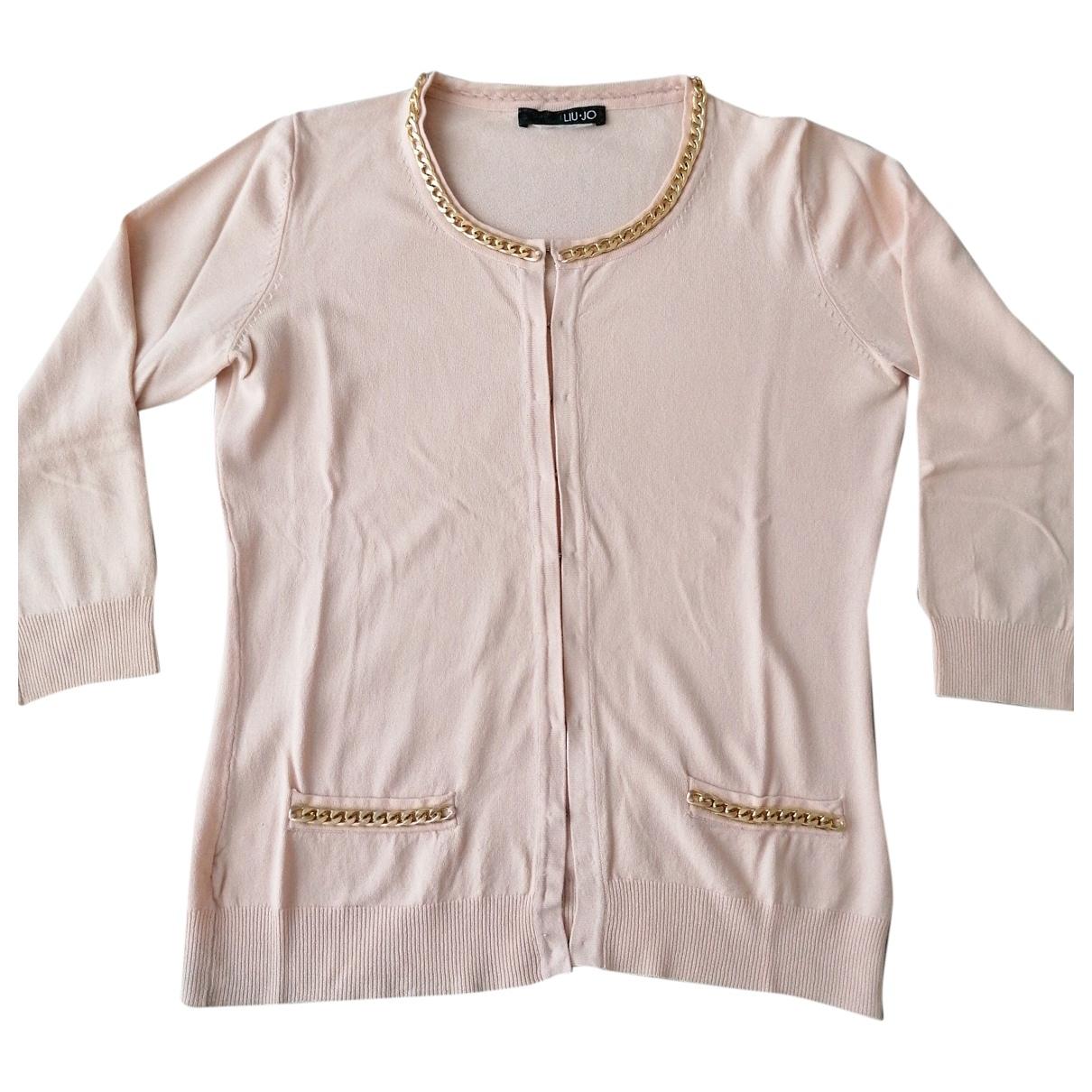 Liu.jo - Pull   pour femme en coton - rose