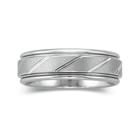 Personalized Mens 7mm Comfort Fit Tungsten Carbide Wedding Band, 11 1/2 , No Color Family