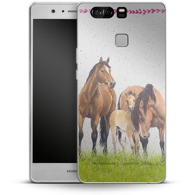 Huawei P9 Silikon Handyhuelle - Pferdefreunde Familie von Pferdefreunde