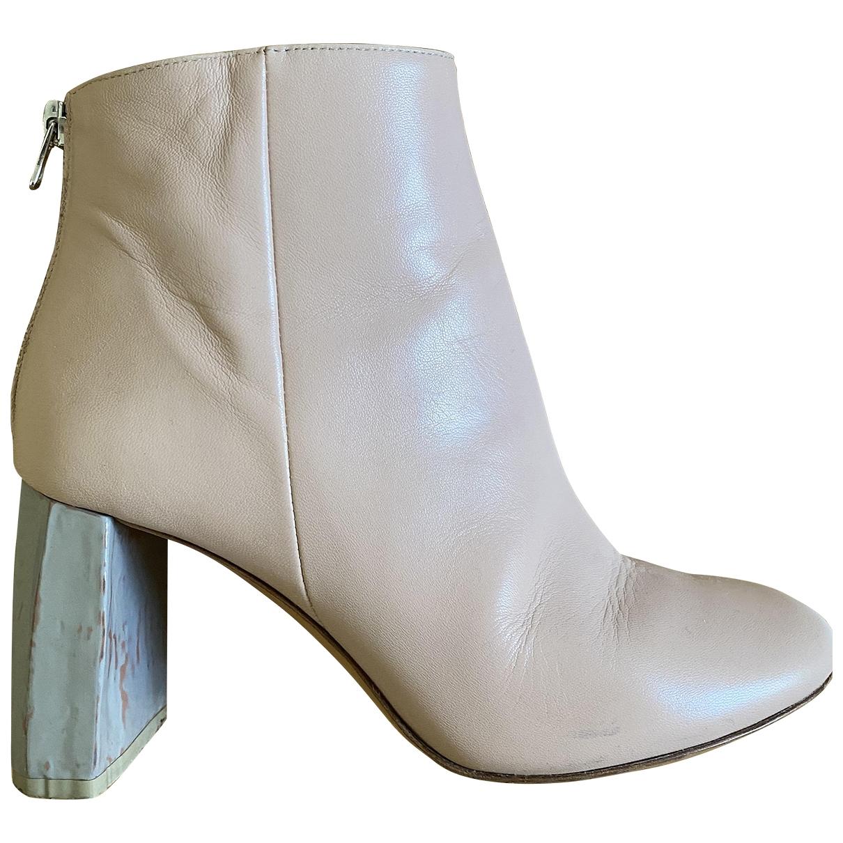 Acne Studios - Boots   pour femme en cuir - rose