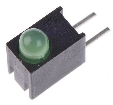 Dialight 551-0207F, Green Right Angle PCB LED Indicator 3mm (T-1), Through Hole (100)