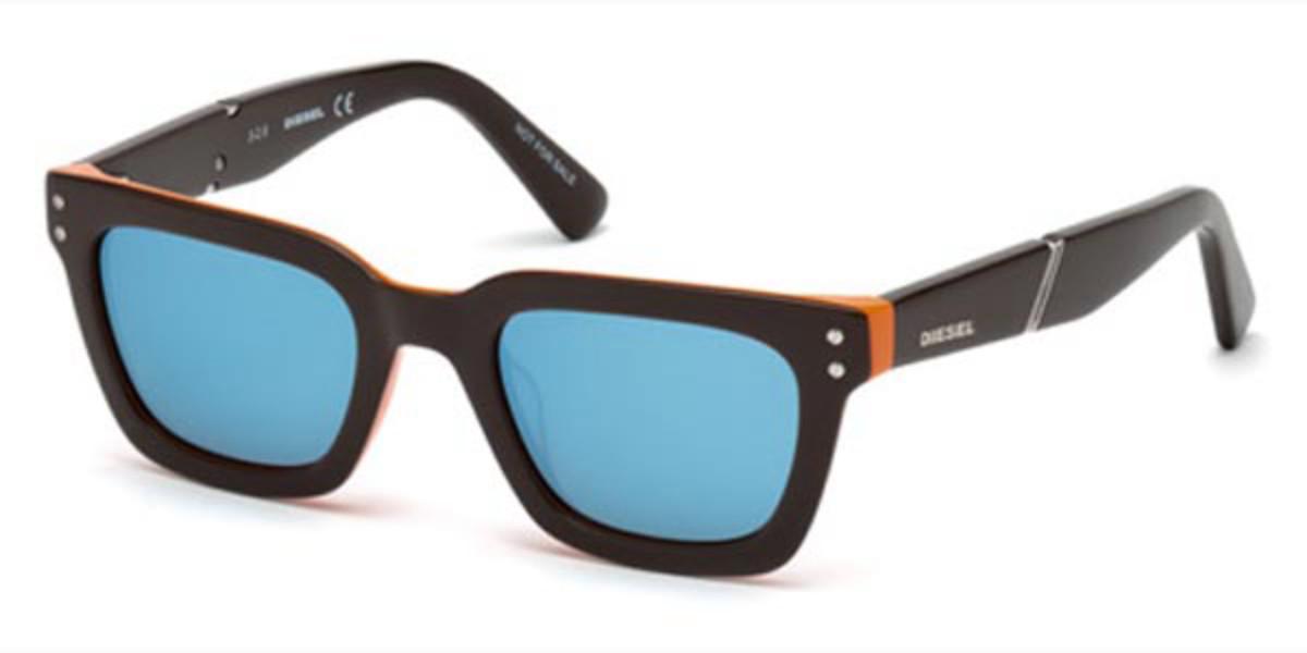 Diesel DL0240 48X Men's Sunglasses Brown Size 45