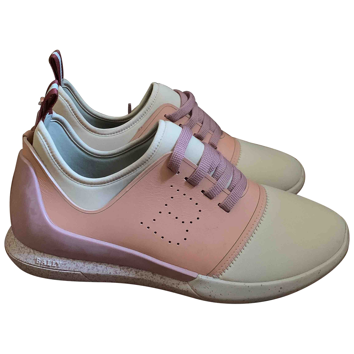 Bally \N Sneakers in  Rosa Leinen
