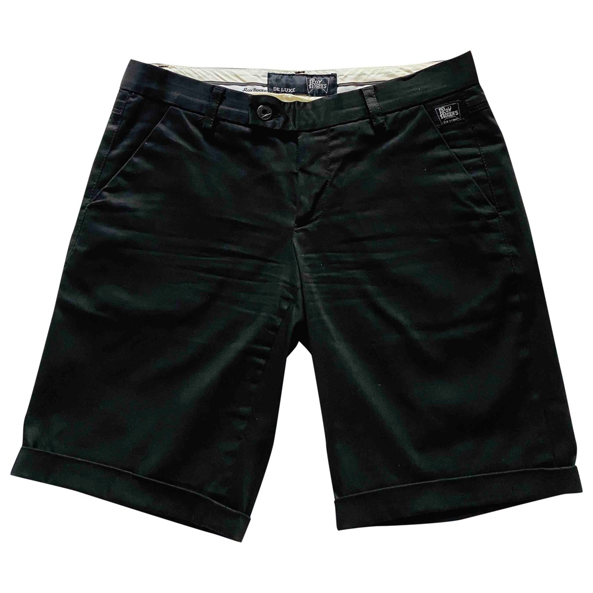 Roy Roger's \N Black Cotton Shorts for Women 40 IT