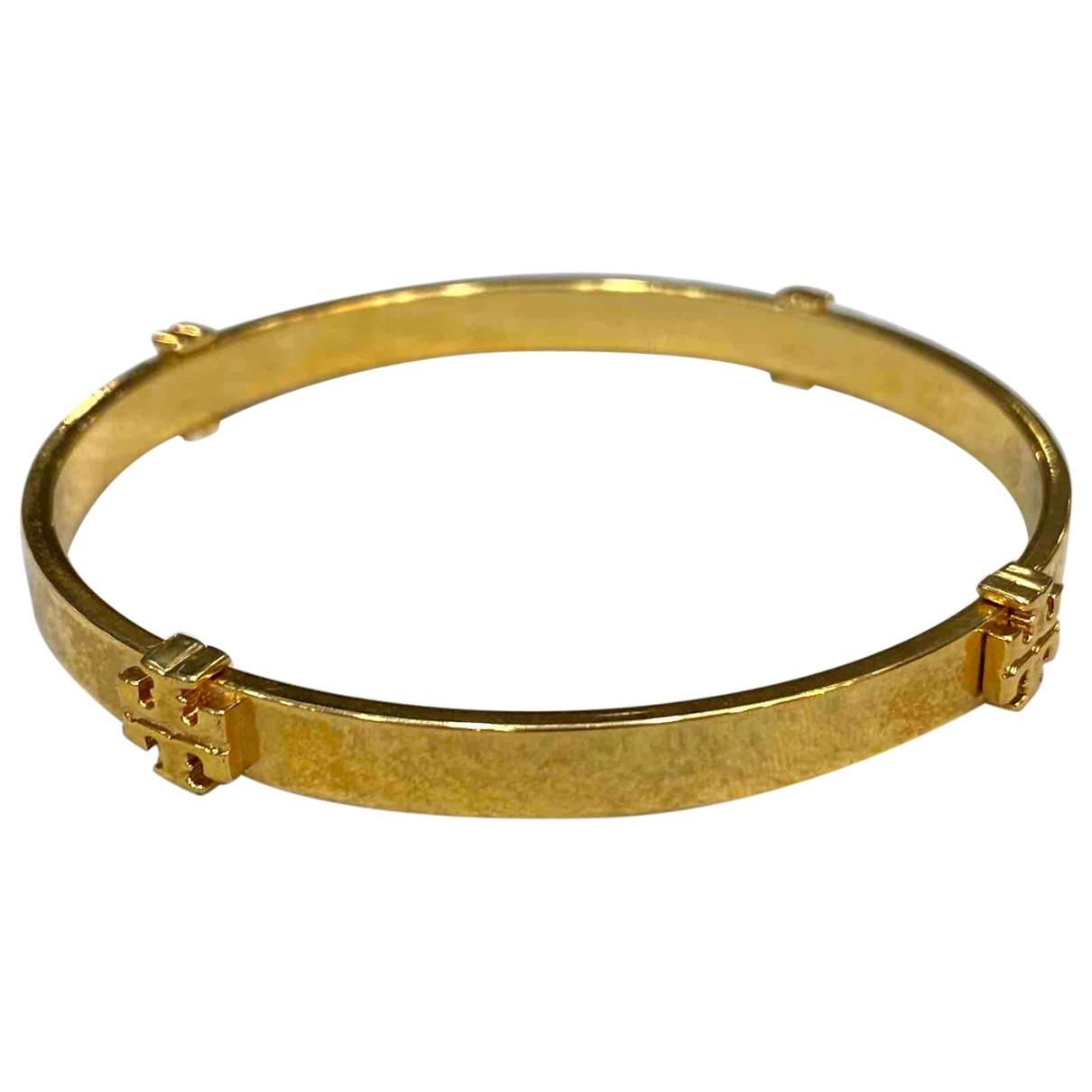 Tory Burch - Bracelet   pour femme en metal - dore