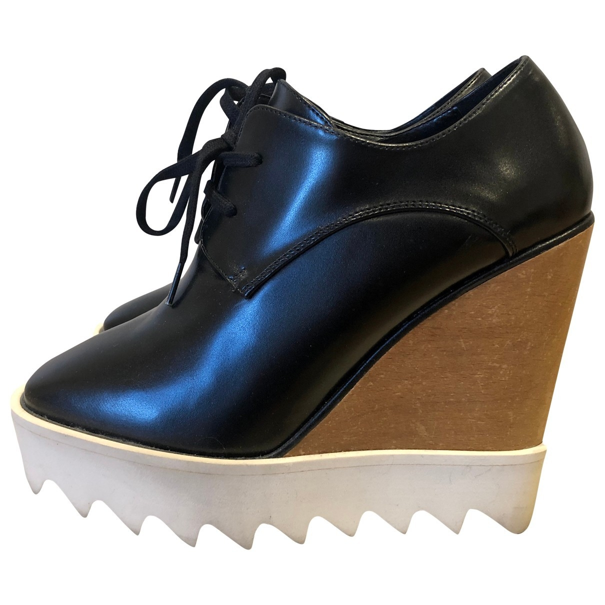 Stella Mccartney Elyse Black Cloth Lace ups for Women 35 EU