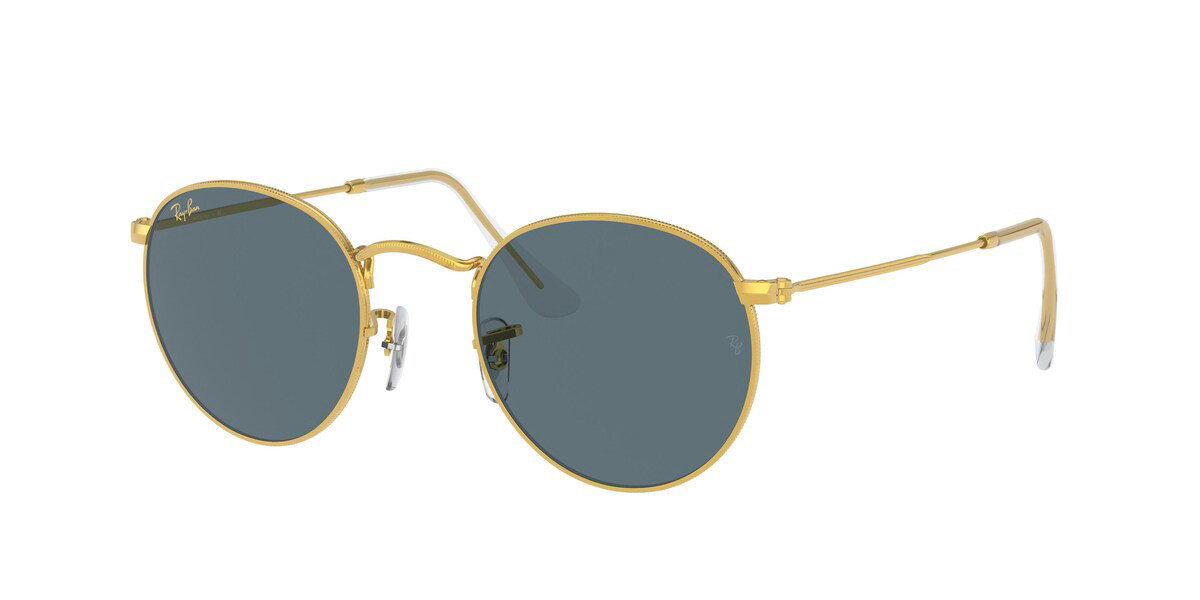Ray-Ban RB3447 Round Metal 9196R5 Men's Sunglasses Gold Size 47