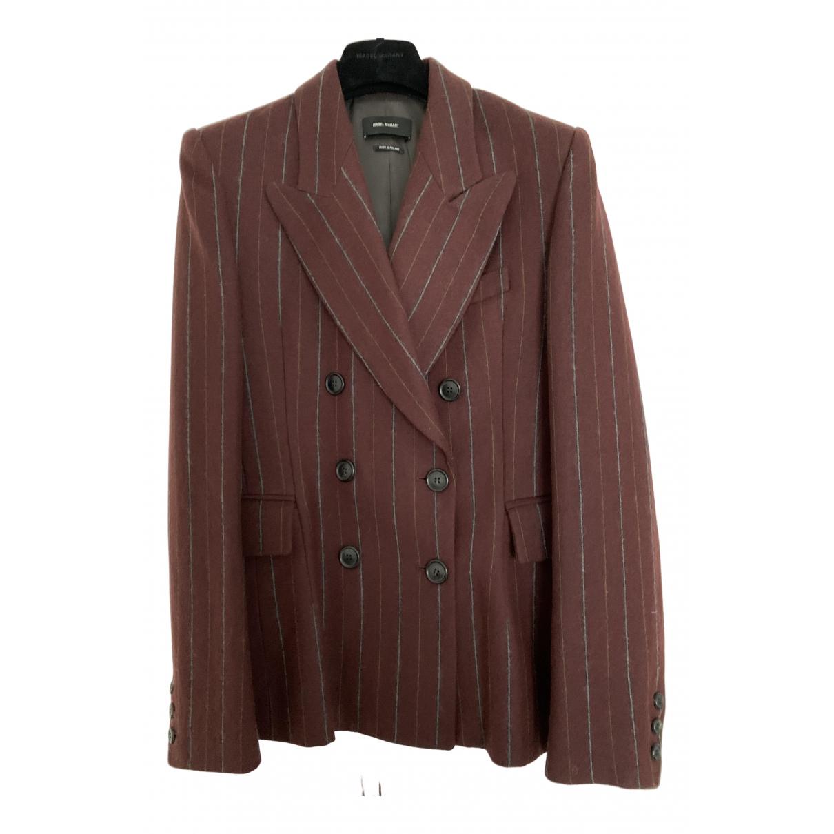 Isabel Marant N Burgundy Wool jacket for Women 42 FR