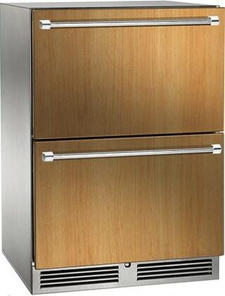 HP24RS-3-6 24 Signature Series Indoor Refrigerator Drawers with 5.2 cu. ft. Capacity  RAPIDcool Forced-air System  and Stainless Steel Construction