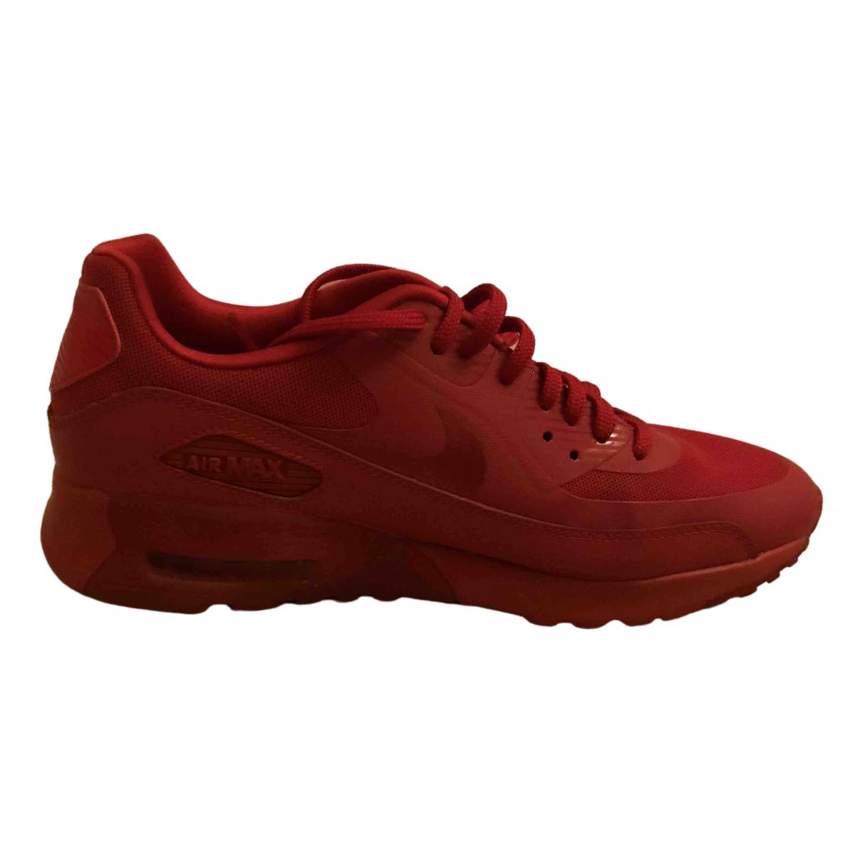 Nike Air Max  Sneakers in  Rot Leder