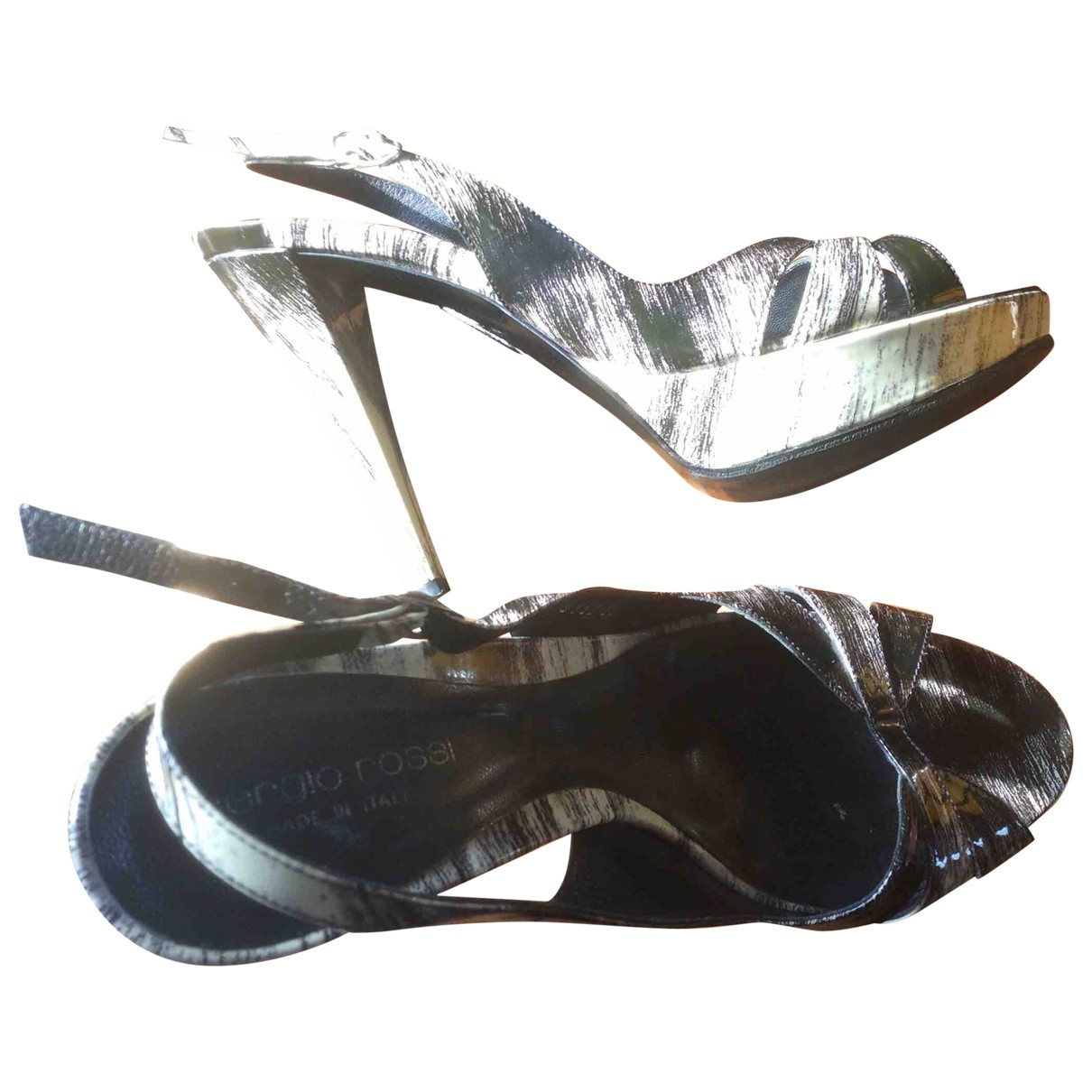 Sergio Rossi \N Black Leather Sandals for Women 38 IT