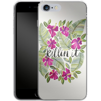Apple iPhone 6s Plus Silikon Handyhuelle - Killin It Pink von Cat Coquillette