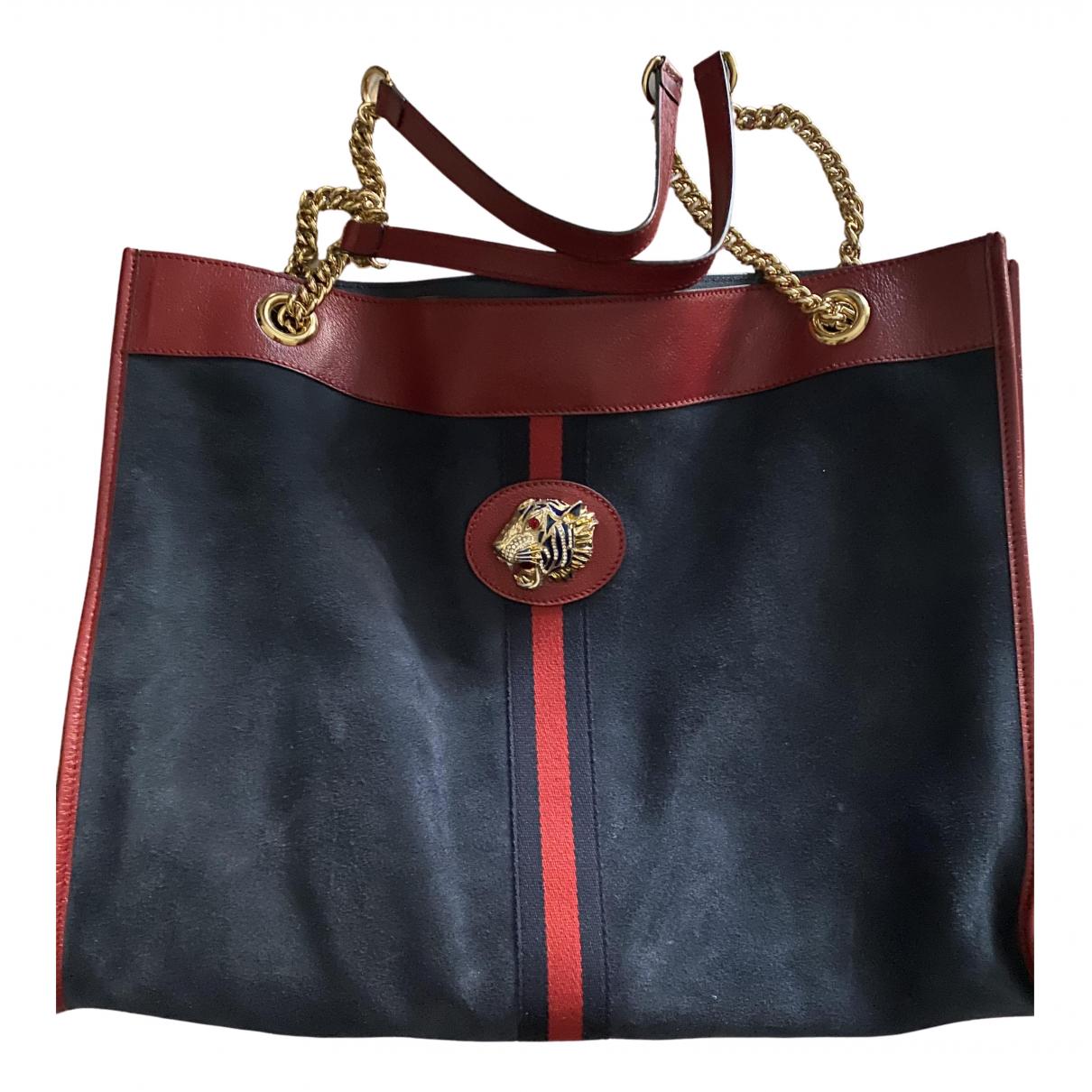 Gucci Rajah Blue Leather handbag for Women \N