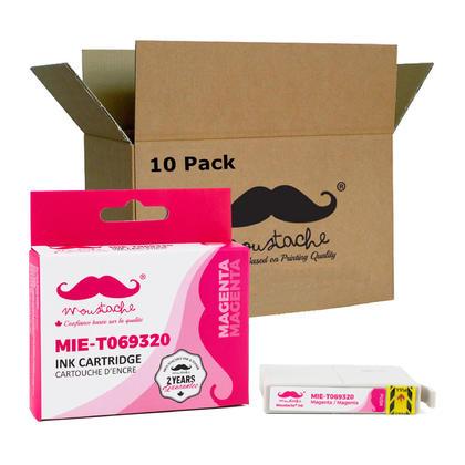 Compatible Epson 69 (T069320) cartouche d'encre magenta de Moustache, 10 paquet