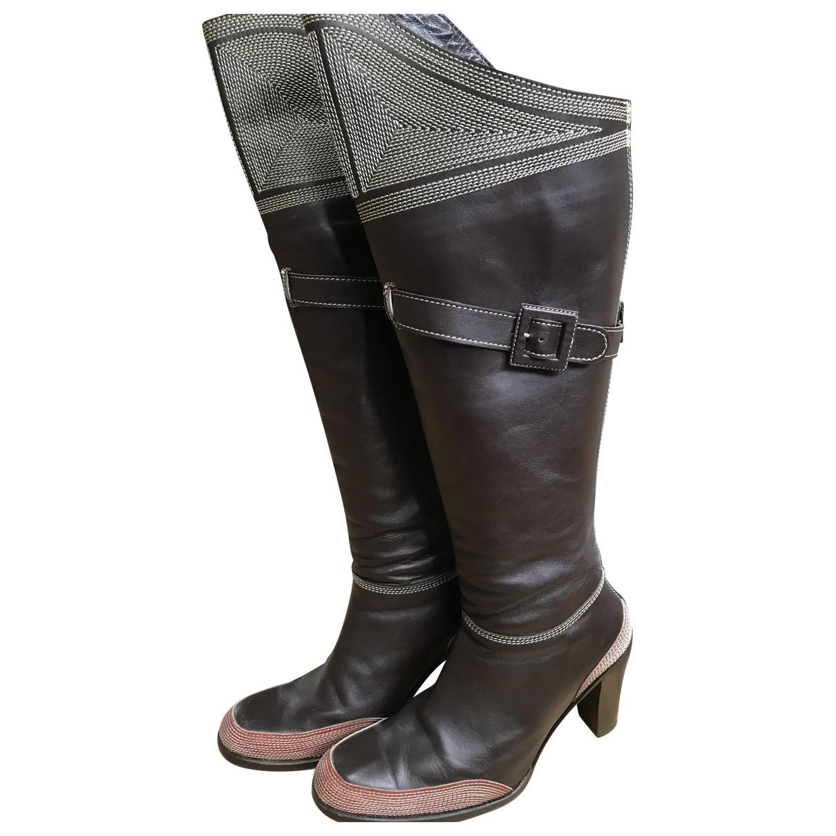 Betty Jackson - Bottes   pour femme en cuir - marron