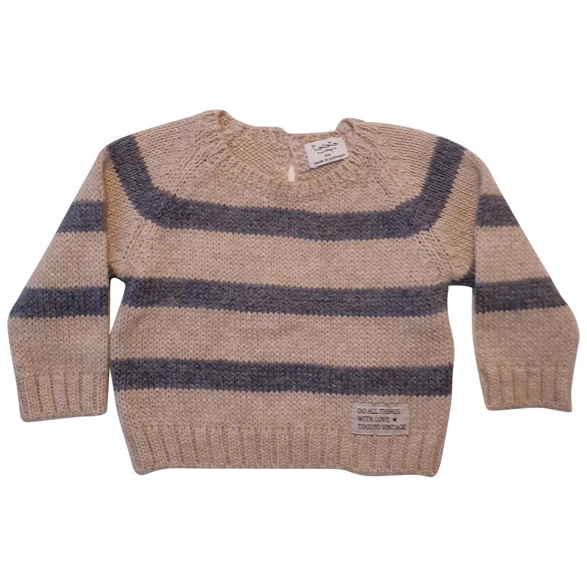 Tocoto Vintage - Pull   pour enfant en laine - beige