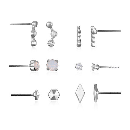 Mixit Stud Earrings, One Size , Silver