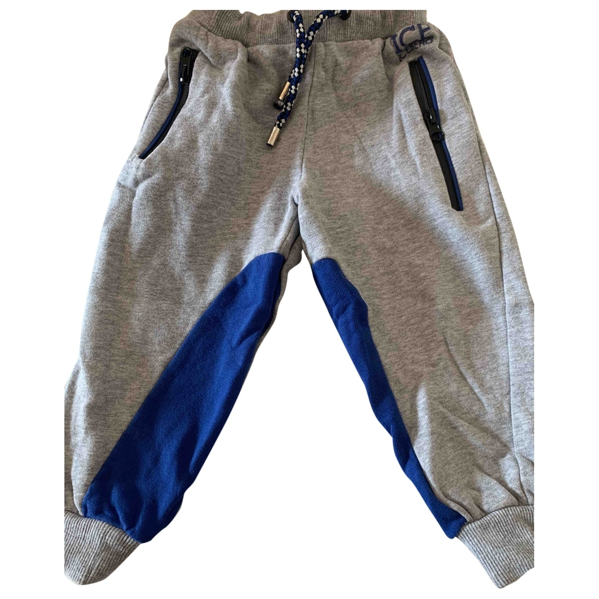 Iceberg \N Grey Cotton Trousers for Kids 2 years - up to 86cm FR