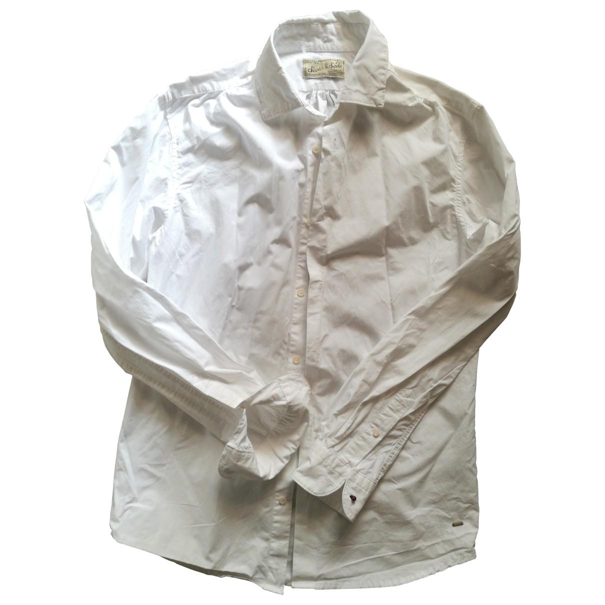Scotch & Soda \N Hemden in  Weiss Baumwolle
