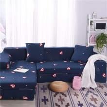 Drehbarer Sofabezug mit Herzen Muster ohne Kissenbezug