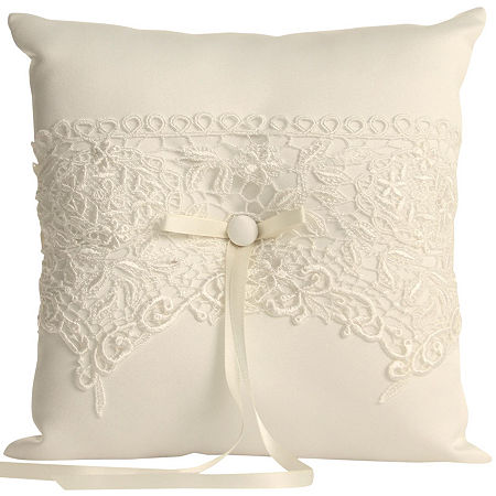 Ivy Lane Design Vintage Lace Ring Bearer Pillow, One Size , White