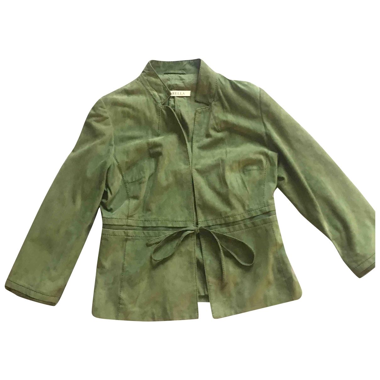 Marella - Blouson   pour femme en suede - vert