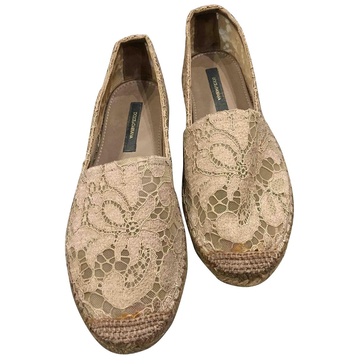 Dolce & Gabbana - Espadrilles   pour femme en toile - beige