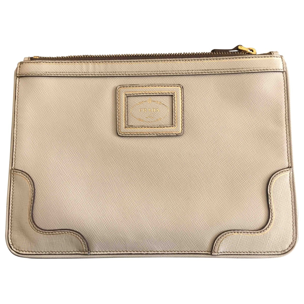 Prada \N Ecru Cloth Clutch bag for Women \N