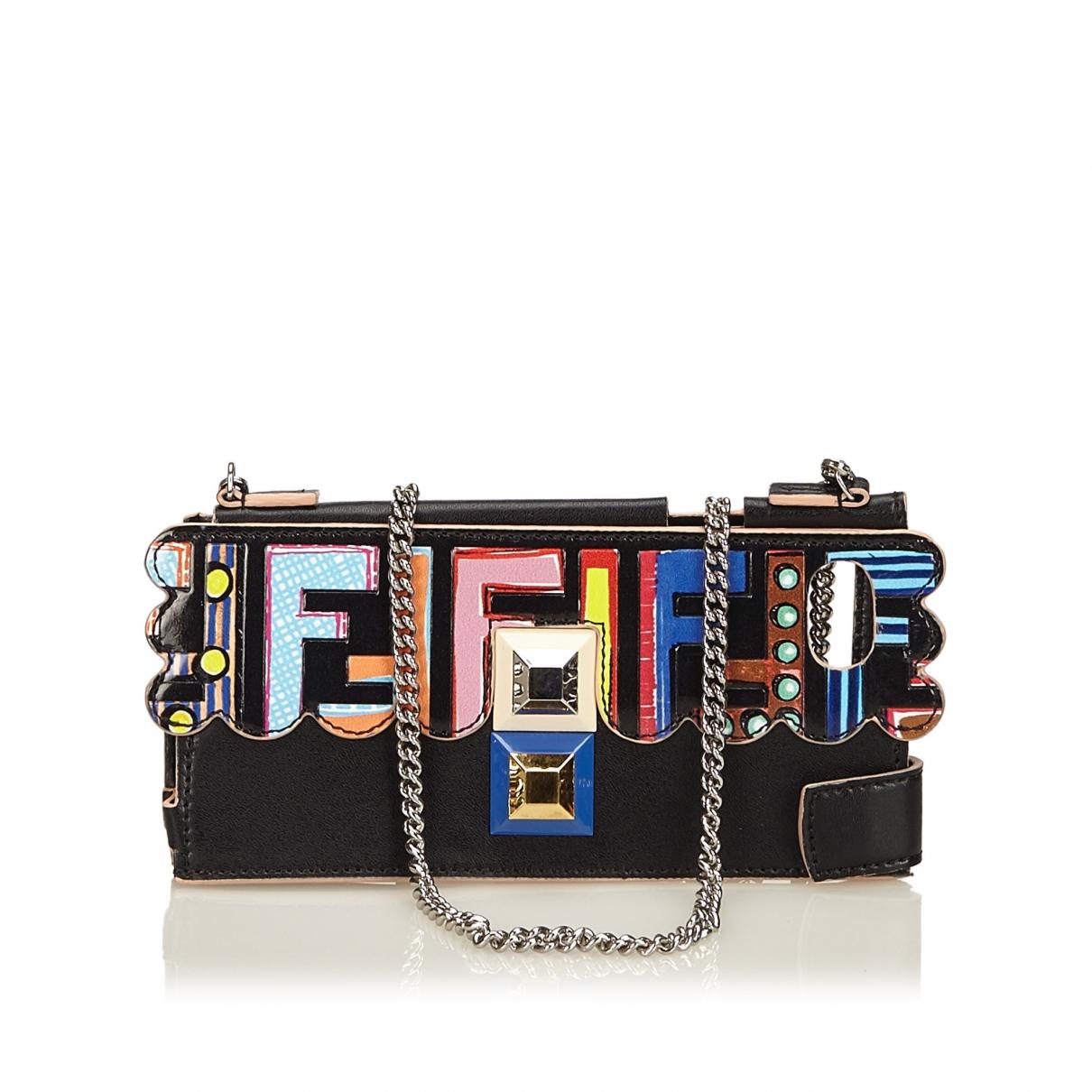 Fendi - Bijoux de portable   pour femme en cuir - noir