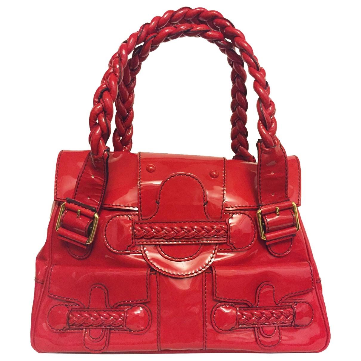 Valentino Garavani \N Handtasche in  Rot Lackleder