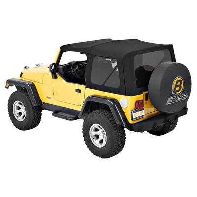 Bestop Supertop NX with Tinted Windows without Doors (Matte Black Twill) - 54820-17