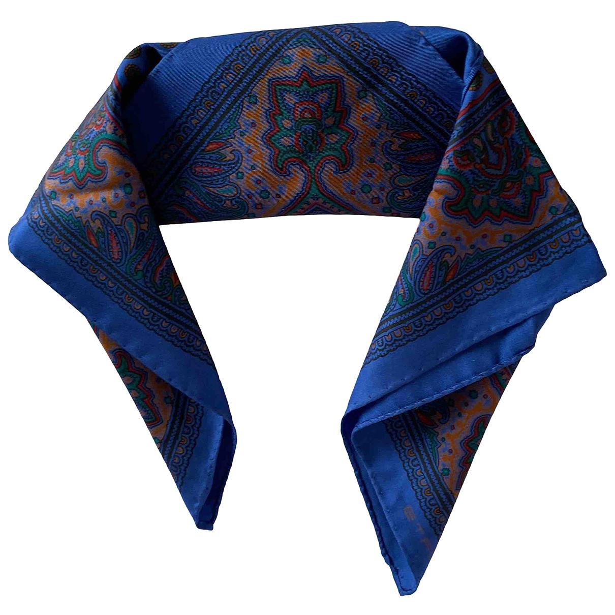 Etro \N Schal in  Blau Seide