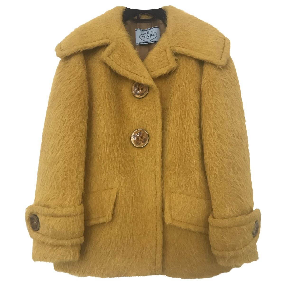Prada - Manteau   pour femme en laine - jaune