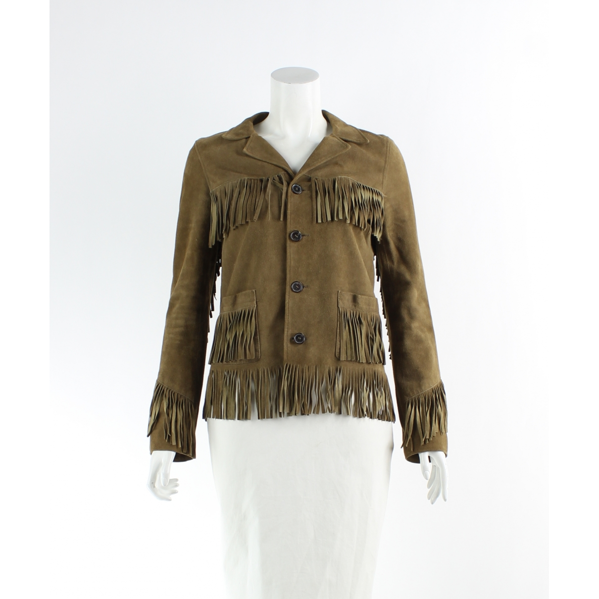 Saint Laurent \N Brown Suede jacket for Women 38 FR
