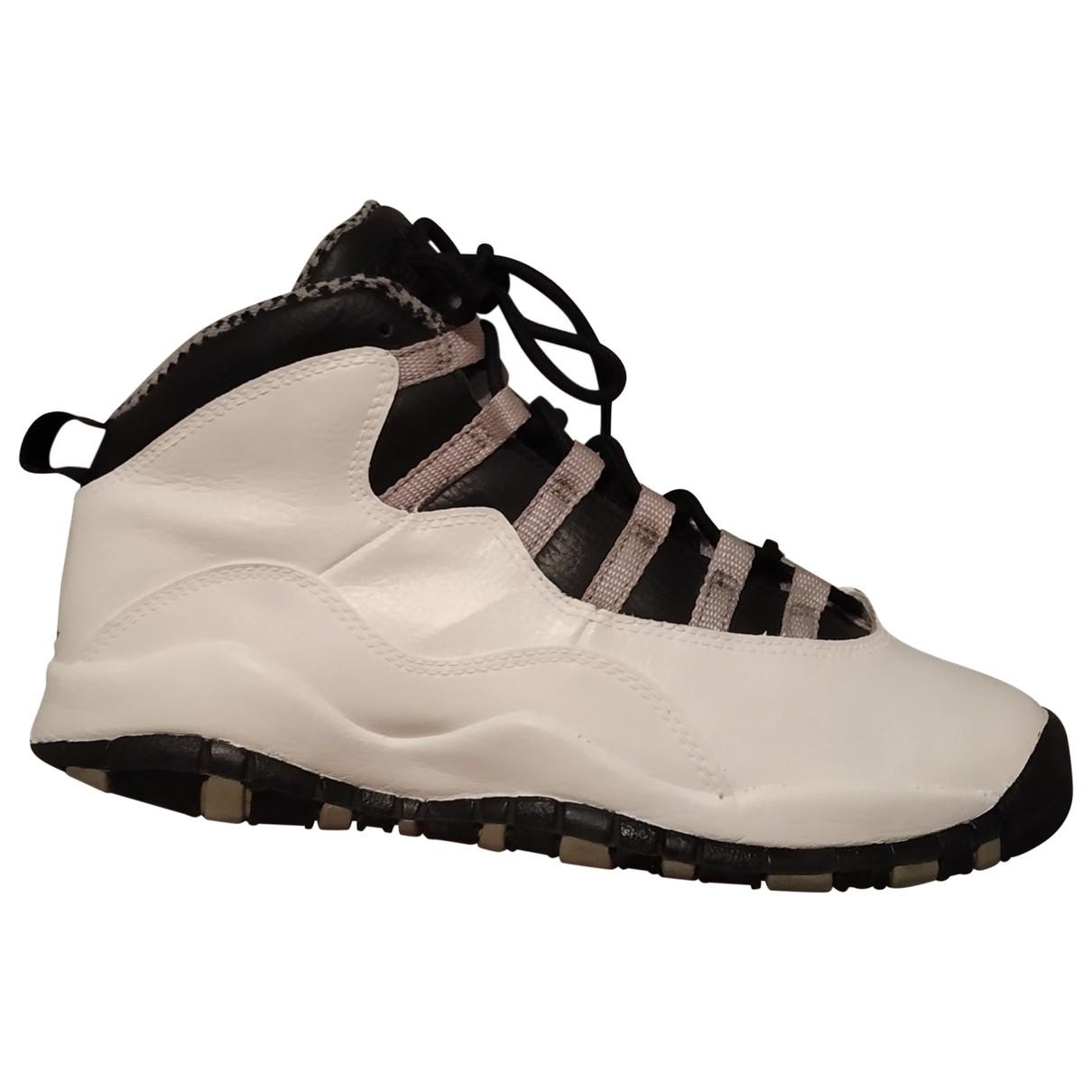 Jordan Air Jordan 10 Sneakers in  Weiss Leder