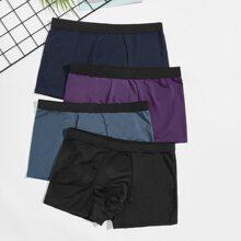 4 Stuecke Boxershorts mit Taillenband
