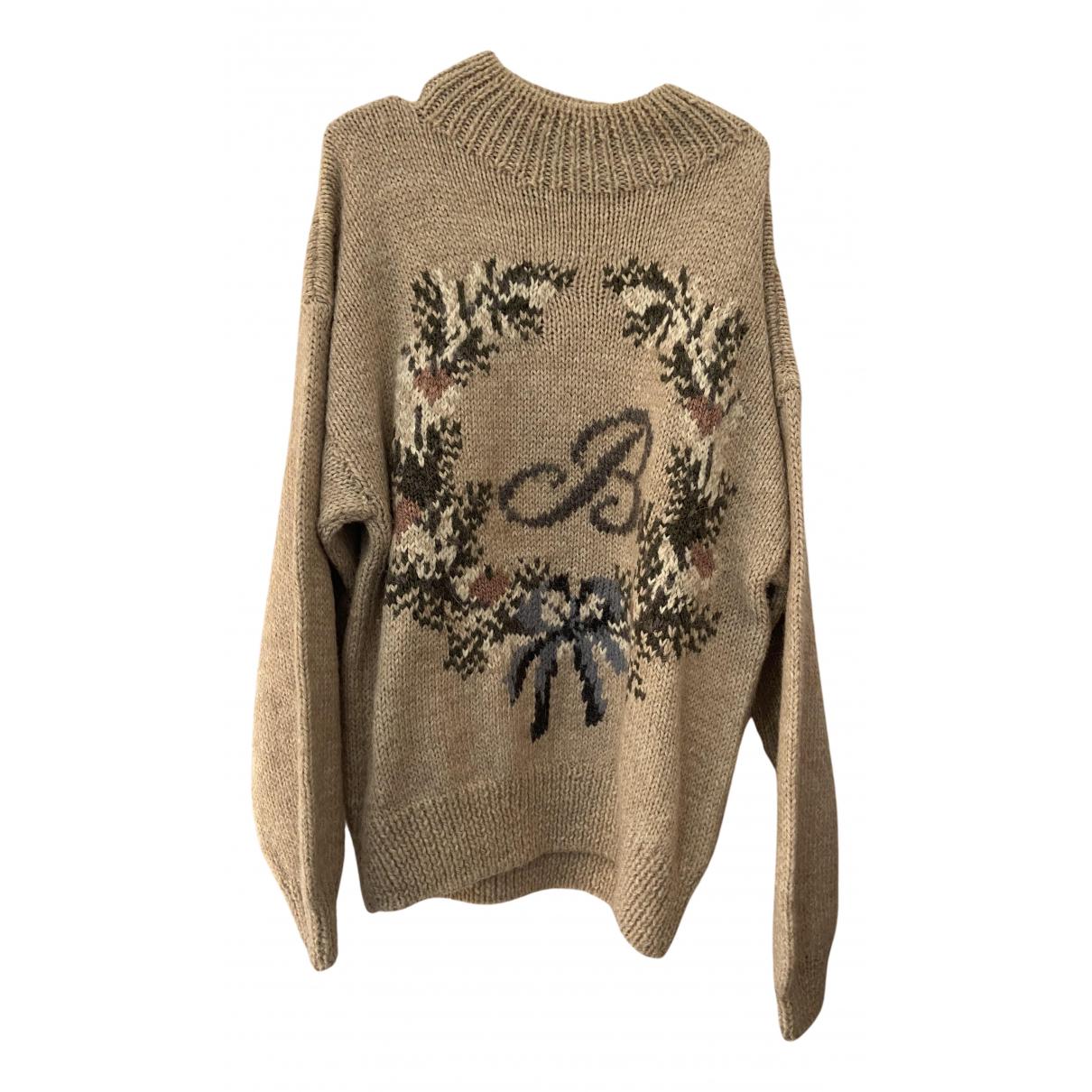 Byblos N Beige Wool Knitwear for Women XXXL International