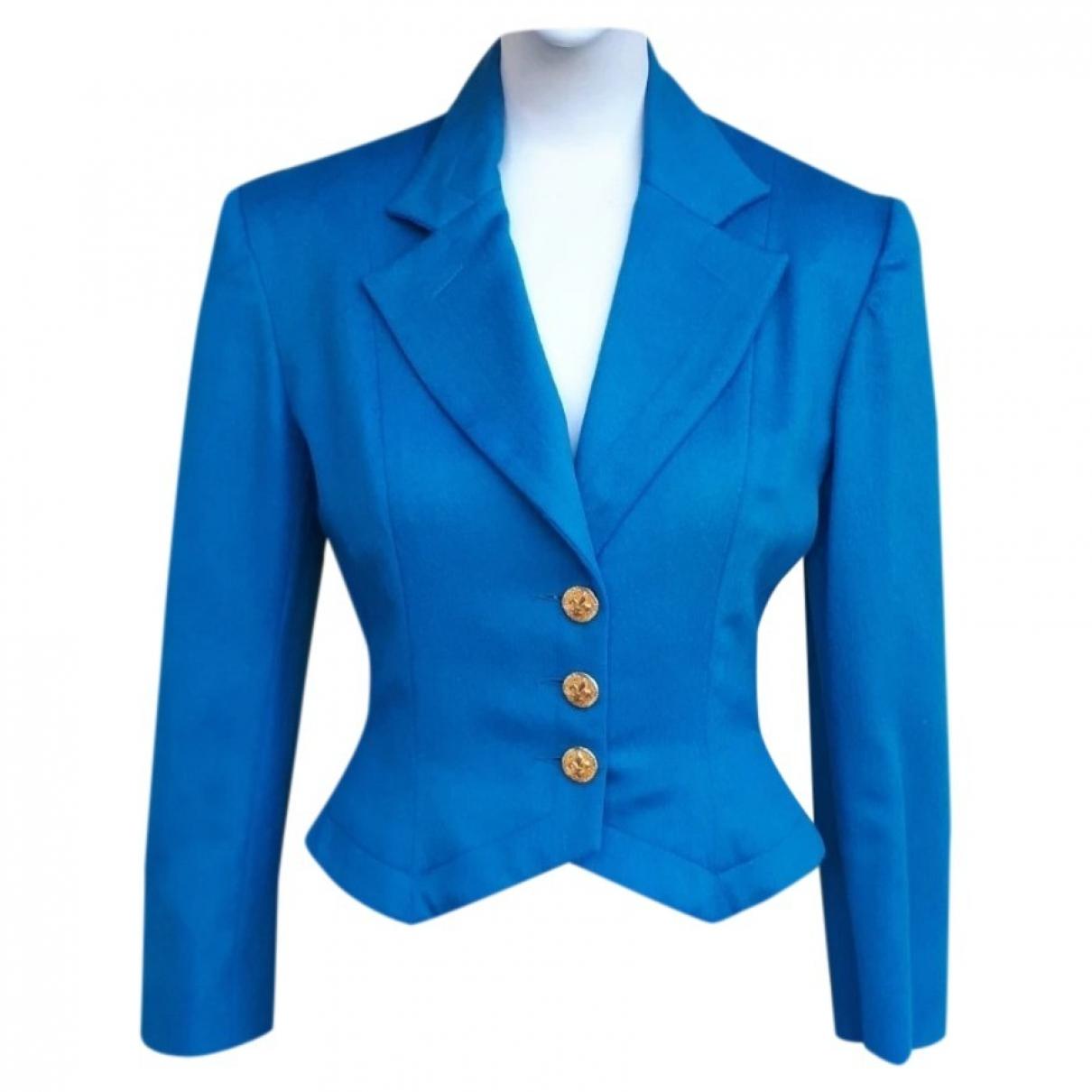 Patrick Kelly - Veste   pour femme en laine - bleu