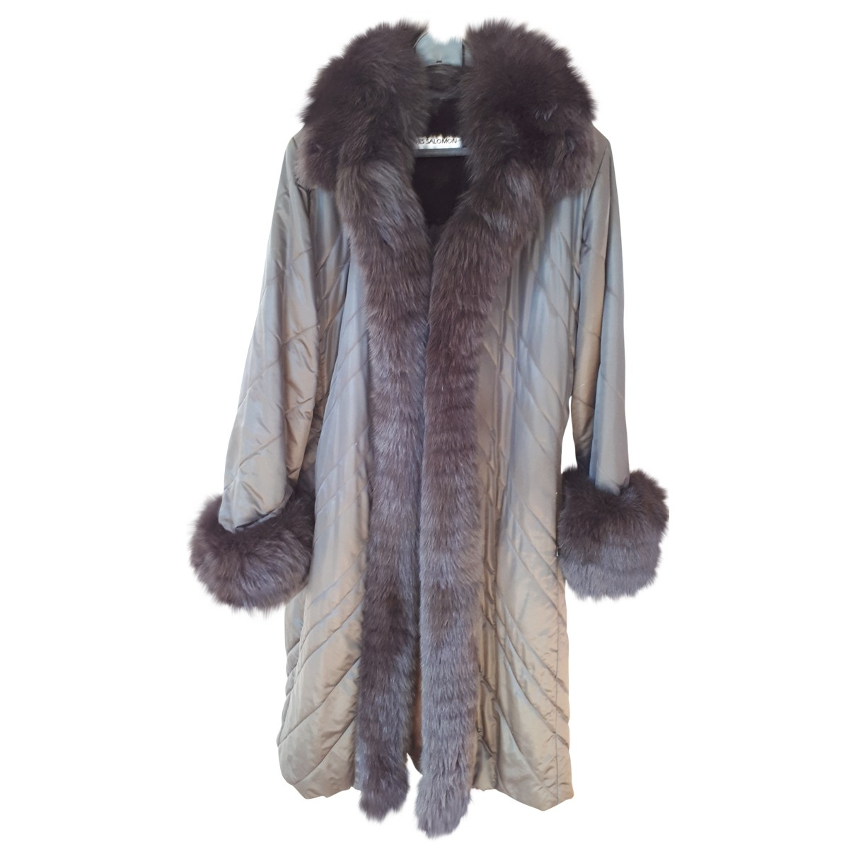 Yves Salomon \N Anthracite Fox coat for Women 42 FR