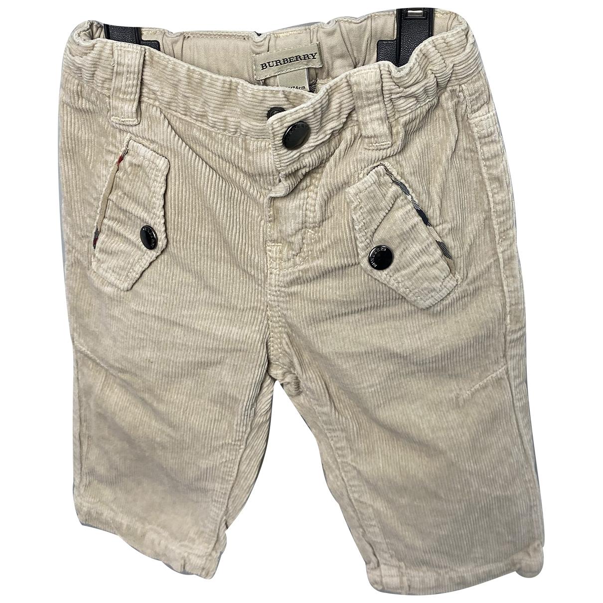 Burberry - Pantalon   pour enfant en coton - beige