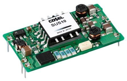 Cosel 10W Isolated DC-DC Converter Through Hole, Voltage in 36 → 76 V dc, Voltage out 12V dc
