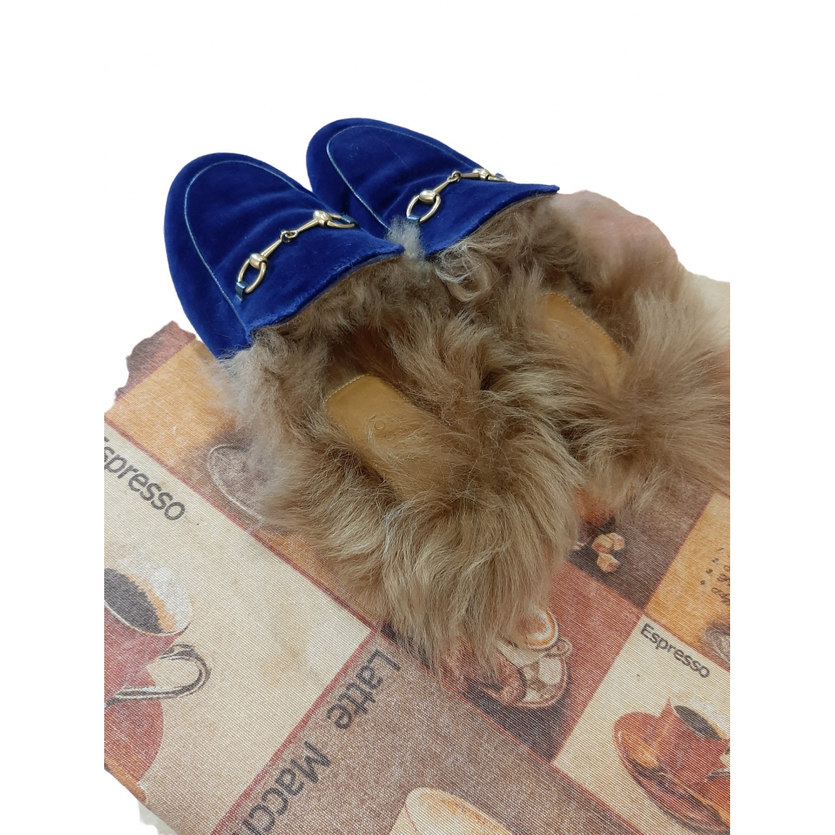 Gucci \N Espadrilles in  Blau Samt