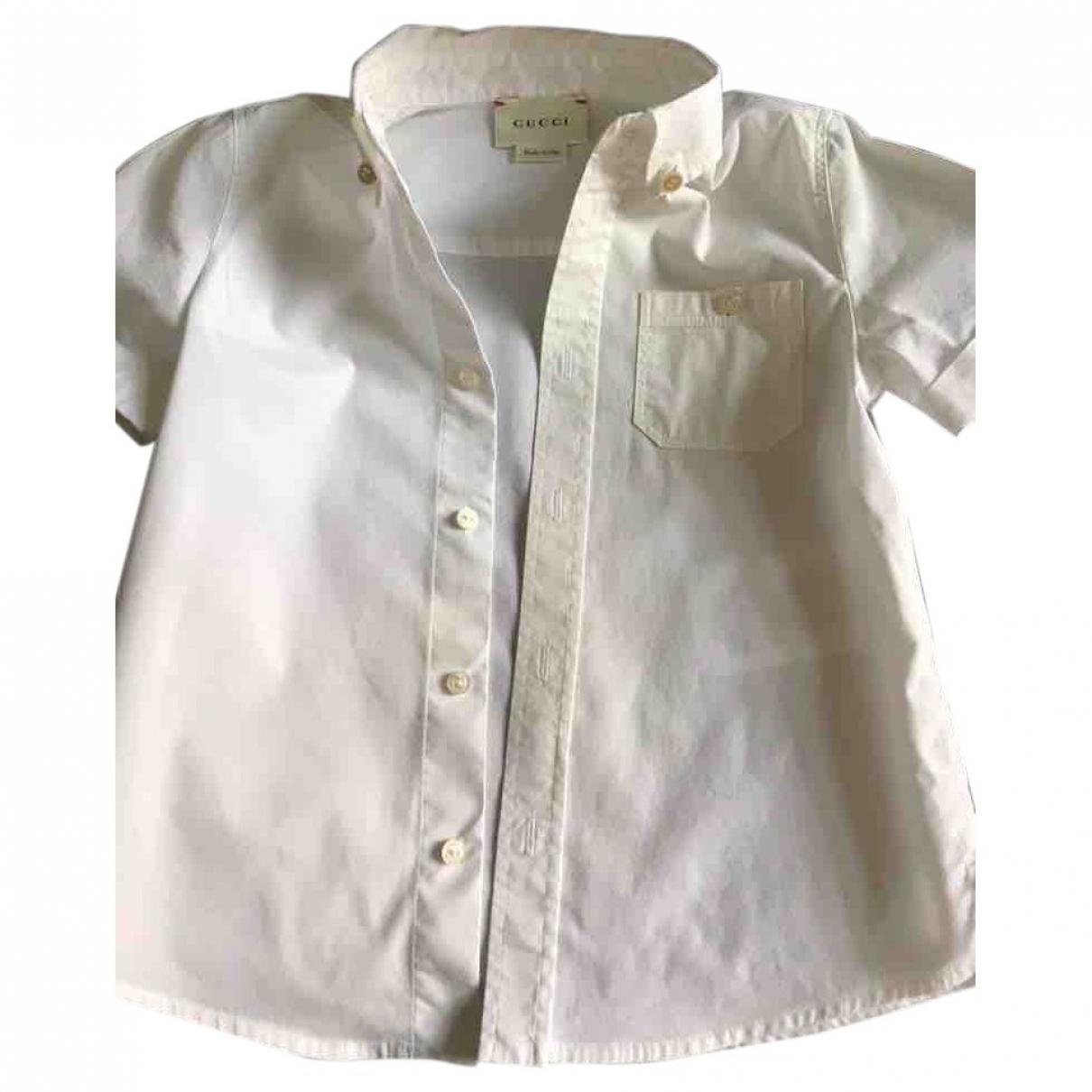 Gucci - Top   pour enfant en coton - blanc