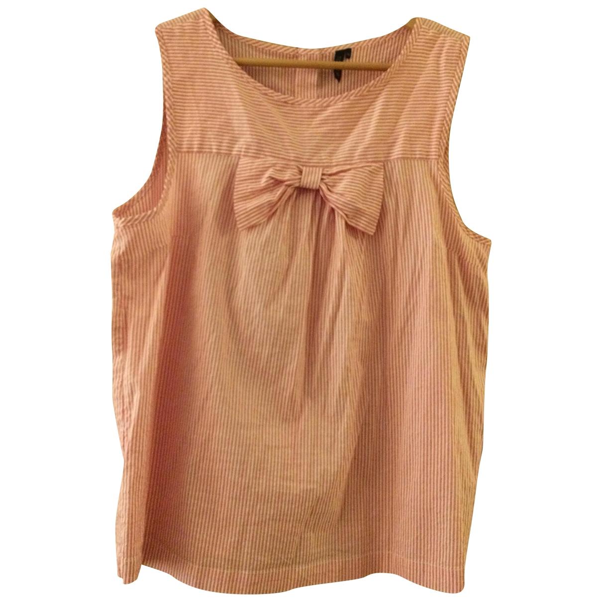 Topshop - Top   pour femme en coton - rouge