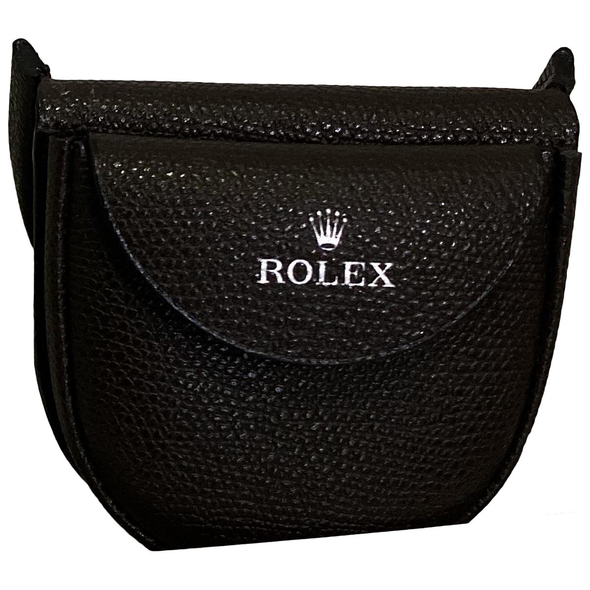 Rolex \N Kleinlederwaren in  Braun Leder