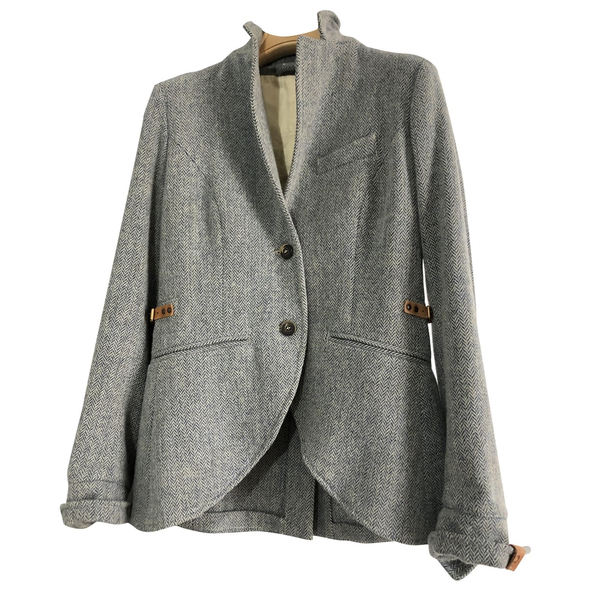 Non Signé / Unsigned Epaulettes Wool jacket for Women 42 IT