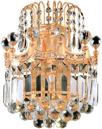 V8949W12G/SA 8949 Corona Collection Wall Sconce D:12In H:12In E:6In Lt:2 Gold Finish (Spectra   Swarovski