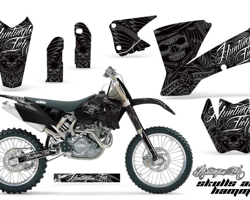 AMR Racing Dirt Bike Graphics Kit Decal Wrap For KTM  SX SXS EXC MXC 2001-2004áHISH SILVER
